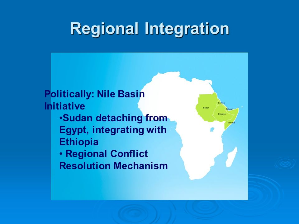 Regional Integration Politically: Nile Basin Initiative