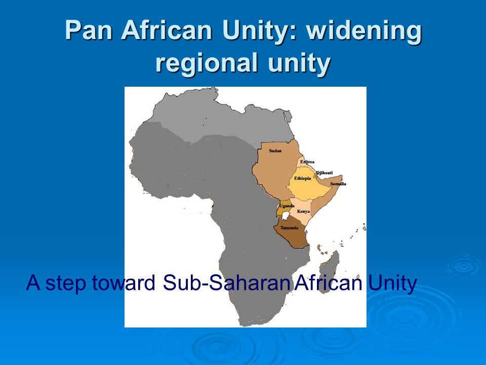 Pan African Unity: widening regional unity