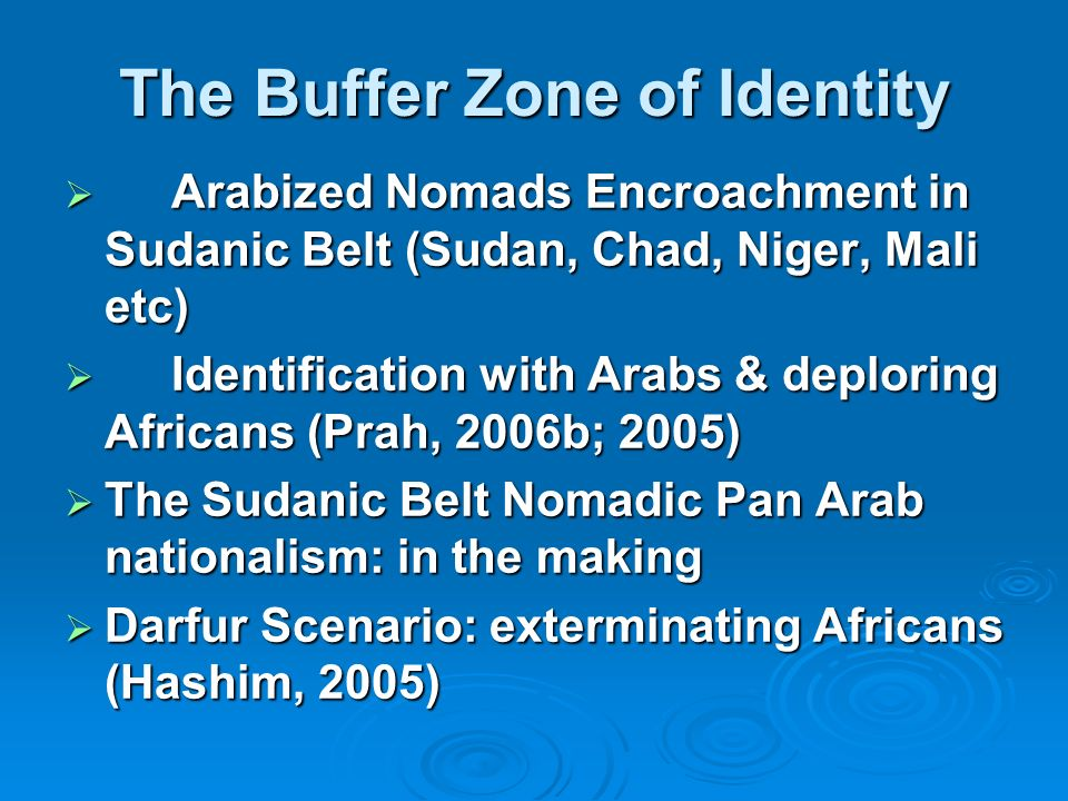 The Buffer Zone of Identity