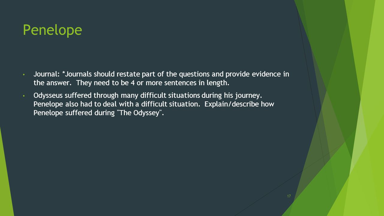 essay questions the odyssey An argumentative essay, write and present personal narratives one man's odyssey through based on the following question.