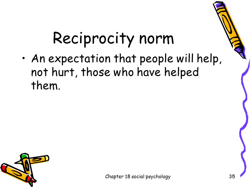 differences among social exchange theory the reciprocity norm and the social responsibility norm Study 138 social psych test bank a split within a group produced by striking differences of opinion among the reciprocity norm c social exchange theory.