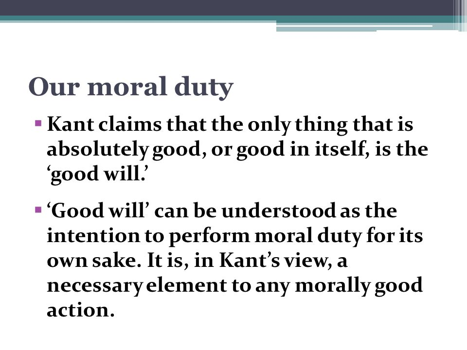Are good intentions necessary for moral