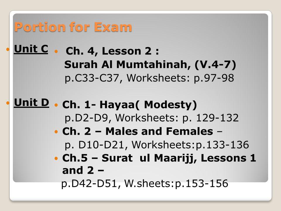 Printable Worksheets islamic studies worksheets : YEAR 9 REVISION Islamic Studies - May ppt video online download