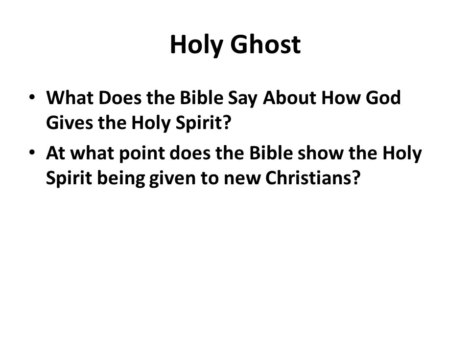 Gifts of the Holy Spirit - Bible Study Courses