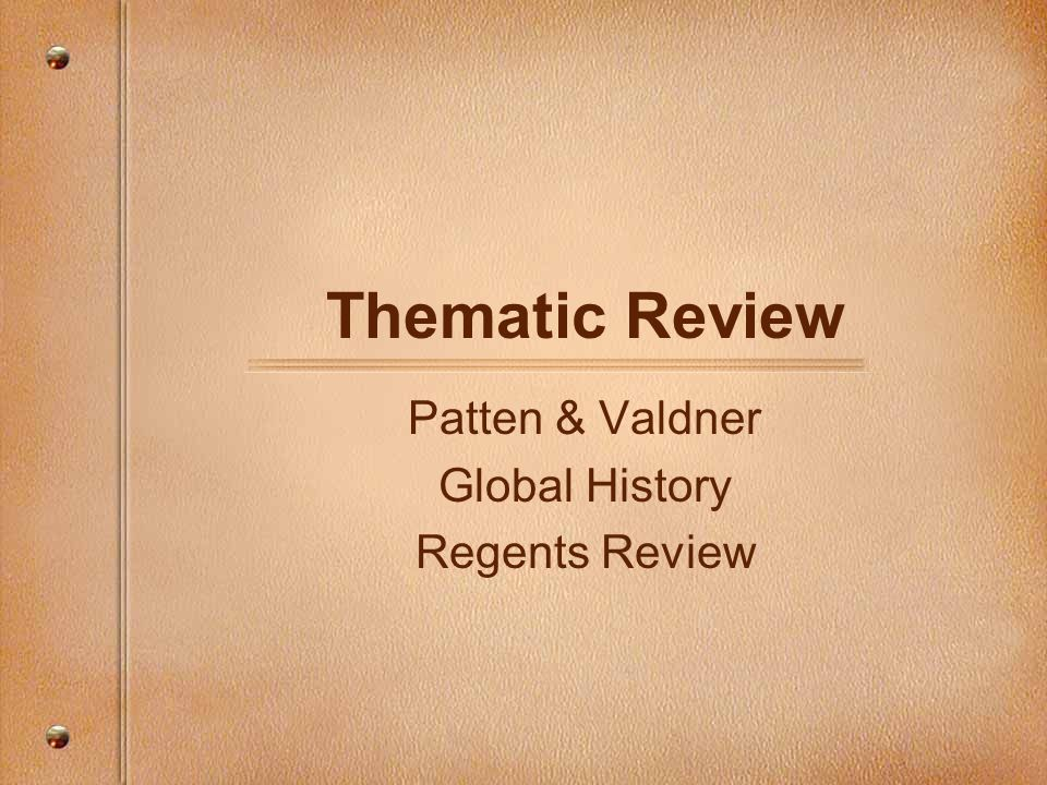 New york state global regents thematic essays