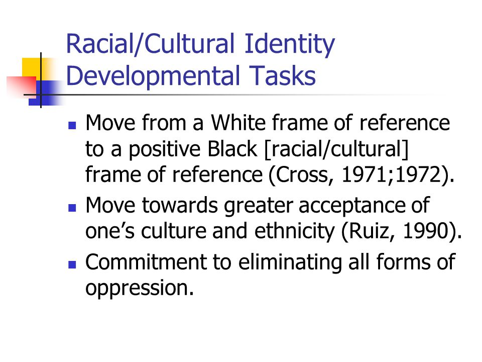 Race cultural identity essay