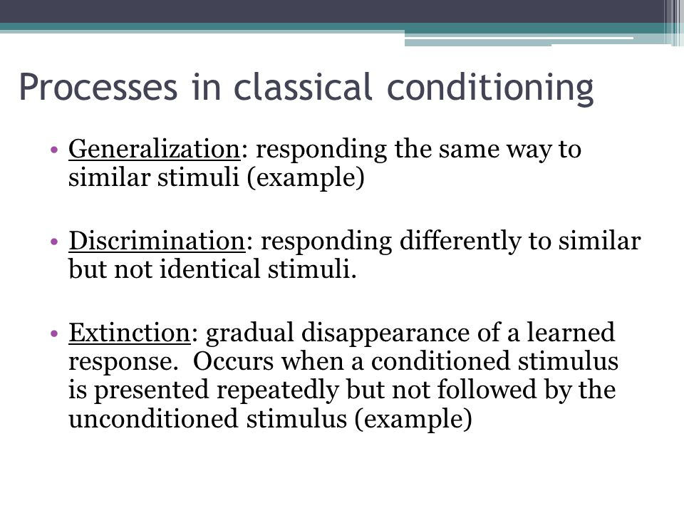 Classical Conditioning (Pavlov)