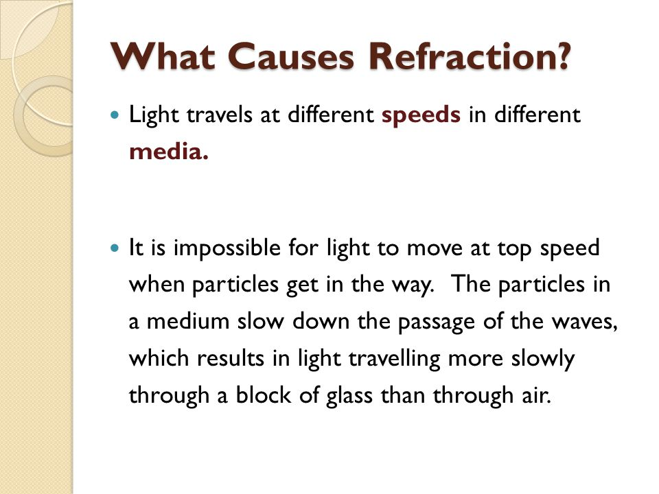 What Causes Refraction