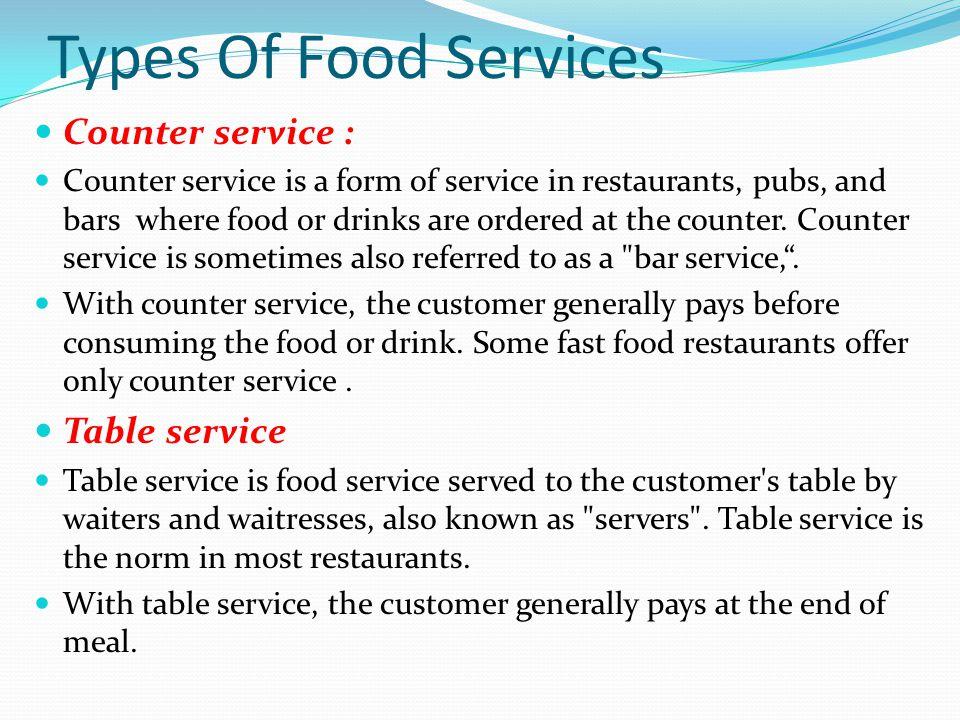 Food Beverage Service Ppt
