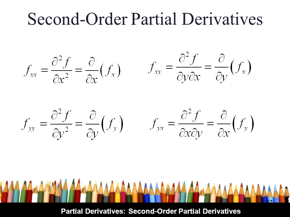 Partial Derivatives: Second-Order Partial Derivatives