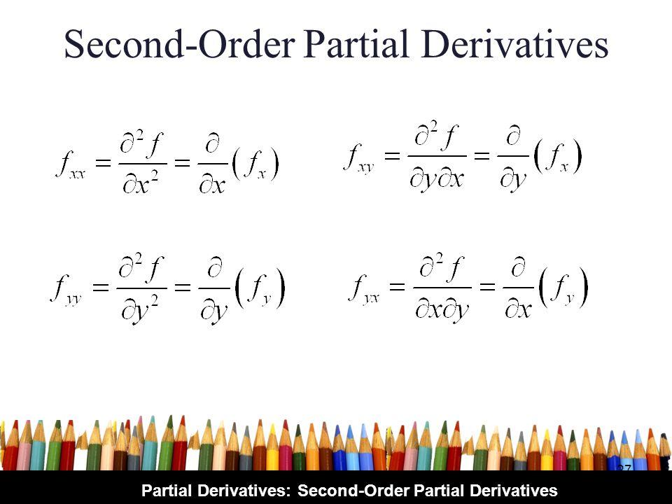 Partial Derivatives: Second-Order Partial Derivatives