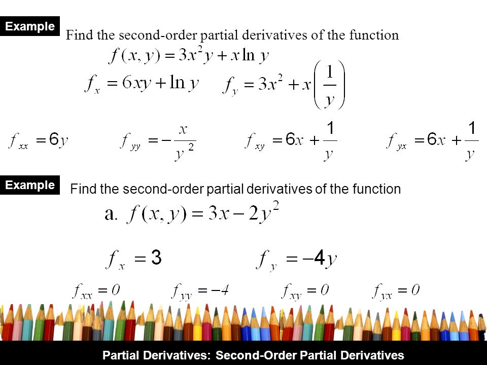 Find the second-order partial derivatives of the function