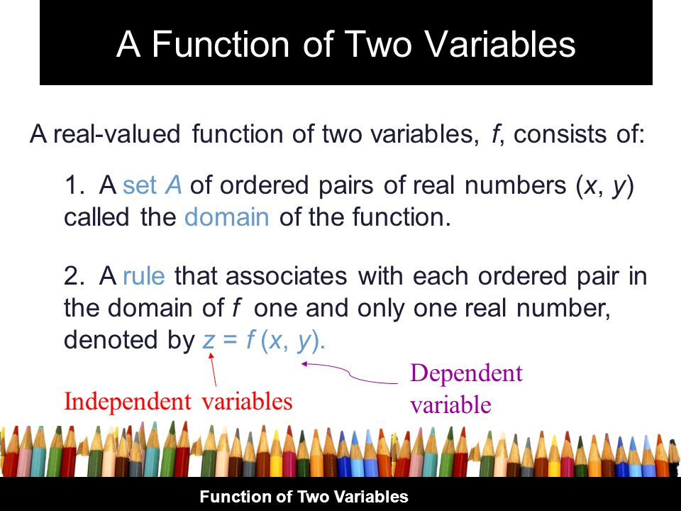 A Function of Two Variables