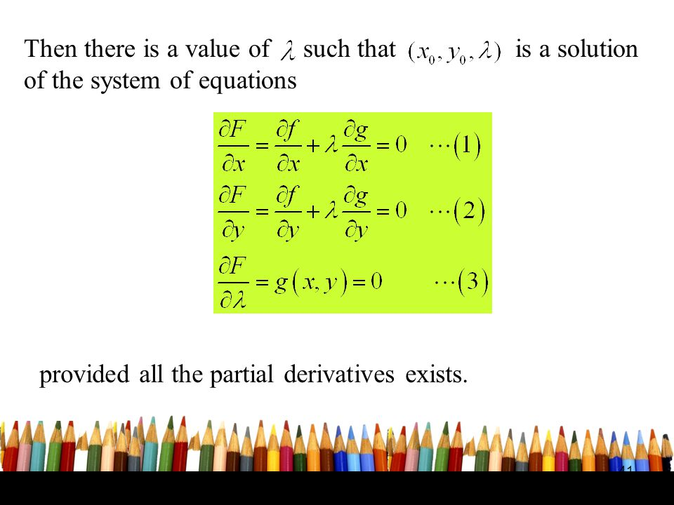 provided all the partial derivatives exists.