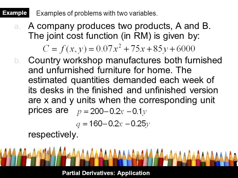 Partial Derivatives: Application