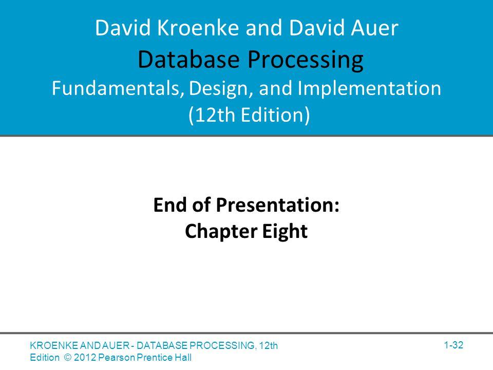 David M. Kroenke And David J