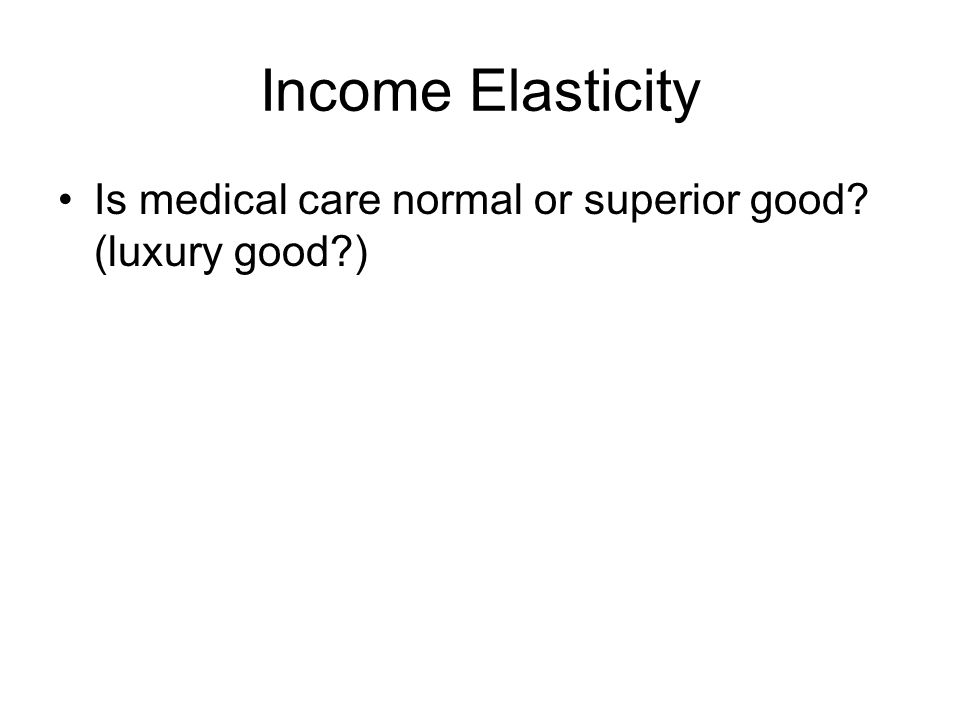 elasticity of demand health care essay Healthcare is important to the society because  healthcare is important to the society health essay  the aim of health care policies is to define a.