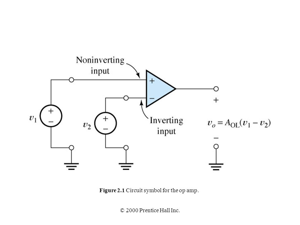 Figure 21 Circuit Symbol For The Op Amp Ppt Video Online Download