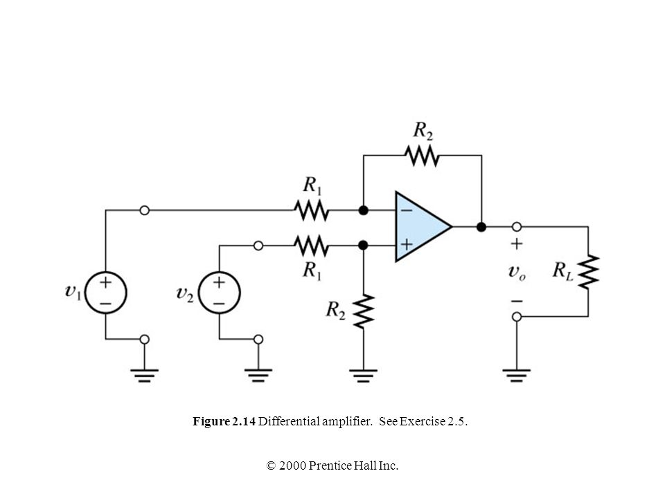 Figure 2.14 Differential amplifier. See Exercise 2.5.