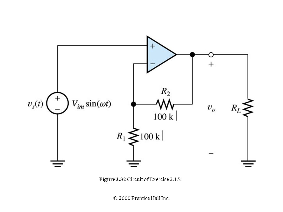 Figure 2.32 Circuit of Exercise 2.15.