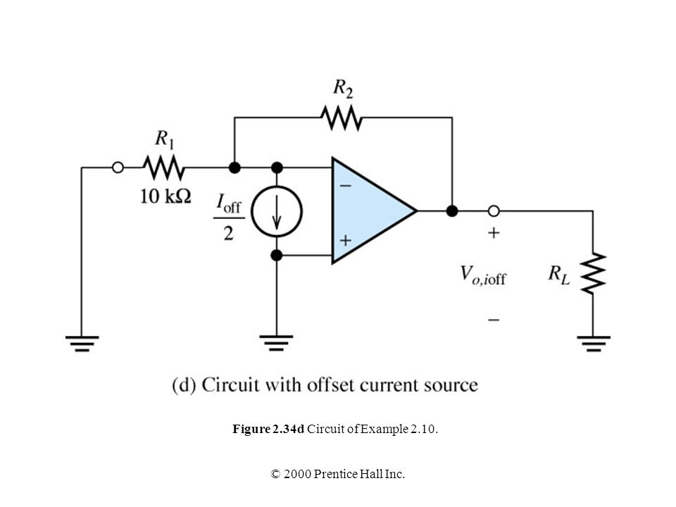 Figure 2.34d Circuit of Example 2.10.
