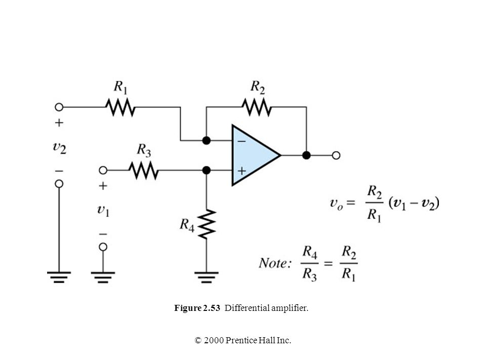 Figure 2.53 Differential amplifier.