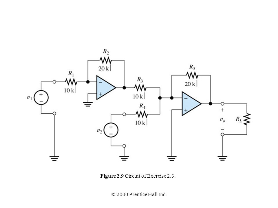 Figure 2.9 Circuit of Exercise 2.3.