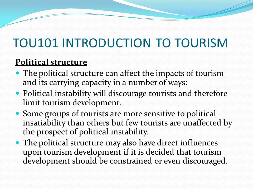 An introduction to the influence of politicians in the tourism industry