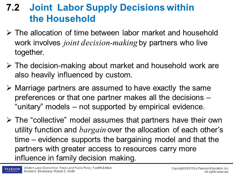 a household s decision on child labor Household vulnerability and child labor: the effect of shocks, credit rationing, and insurance that also influence the household decision about children's.