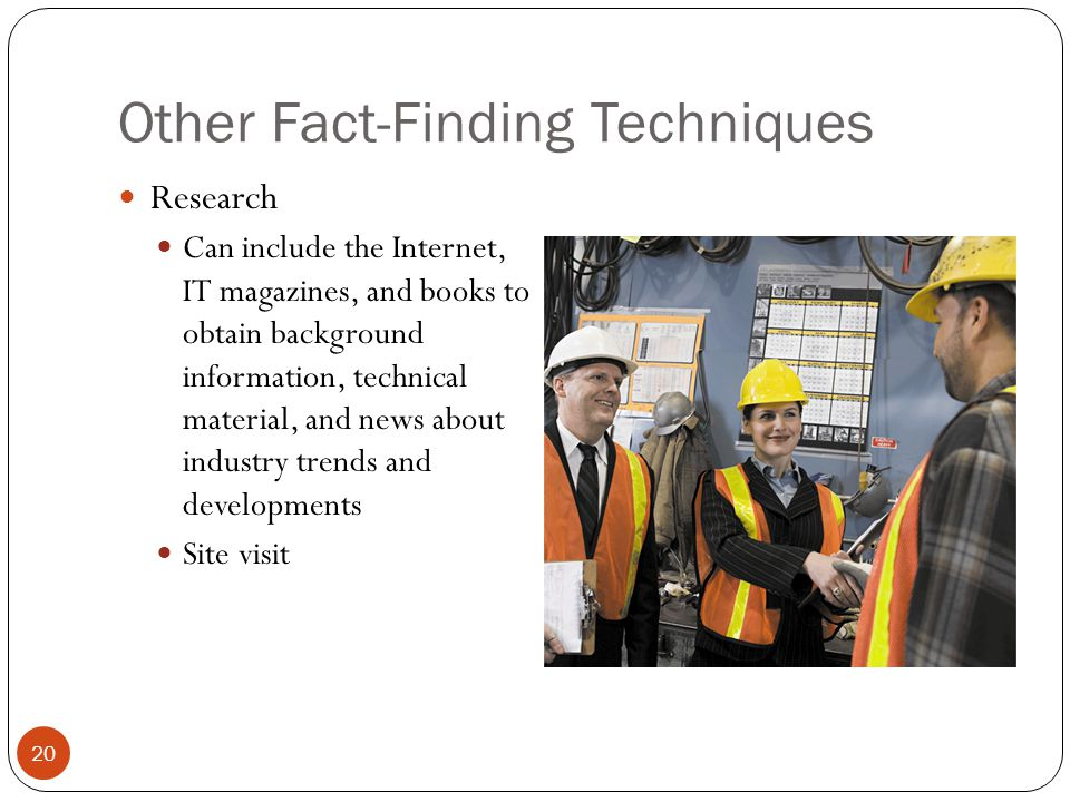 fact finding techniques Guide to conducting workplace investigations   fact-finding investigations  implications of the investigation and the techniques used to gather evidence.