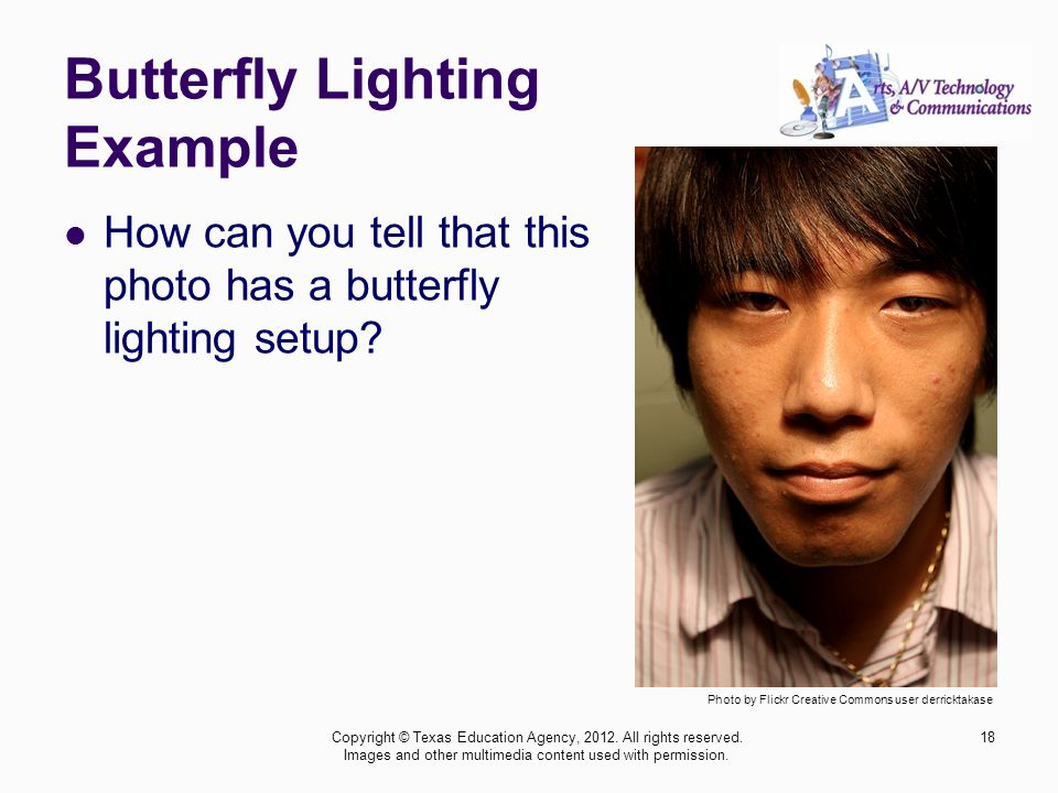 Butterfly Lighting Example