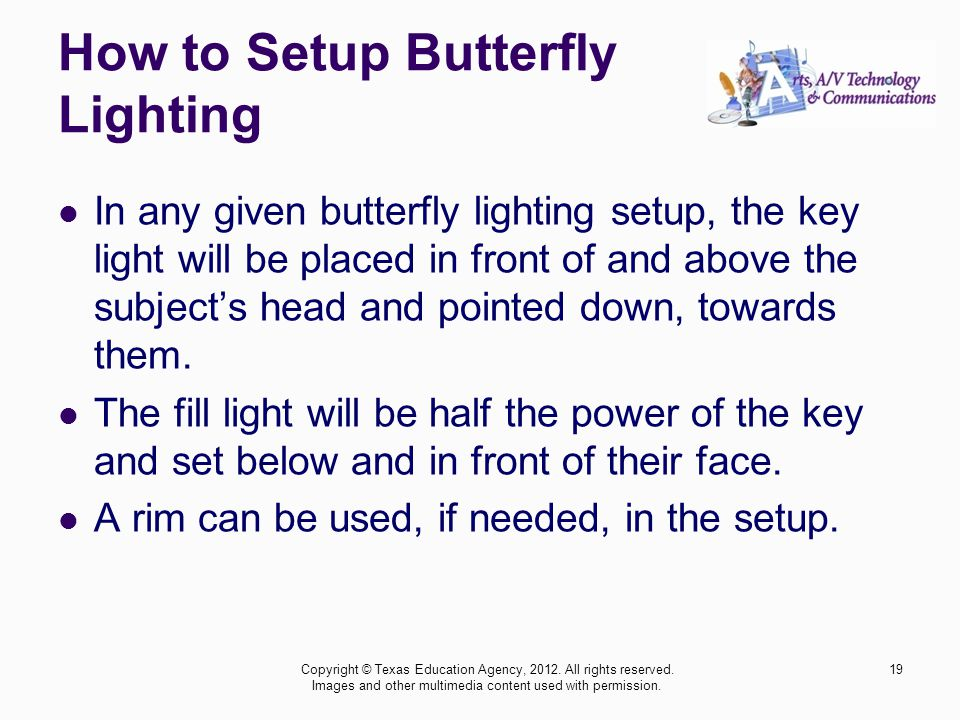 How to Setup Butterfly Lighting