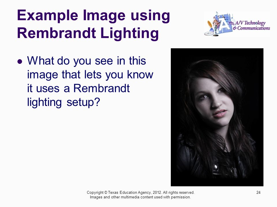 Example Image using Rembrandt Lighting