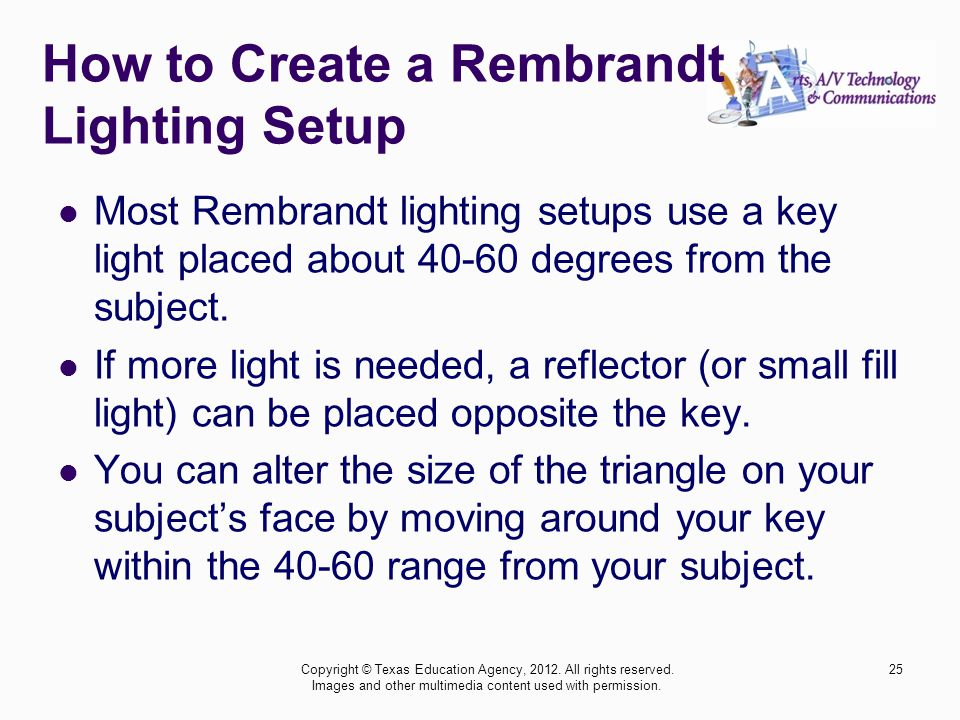 How to Create a Rembrandt Lighting Setup