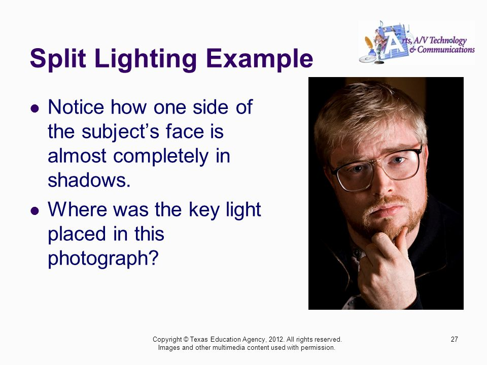 Split Lighting Example