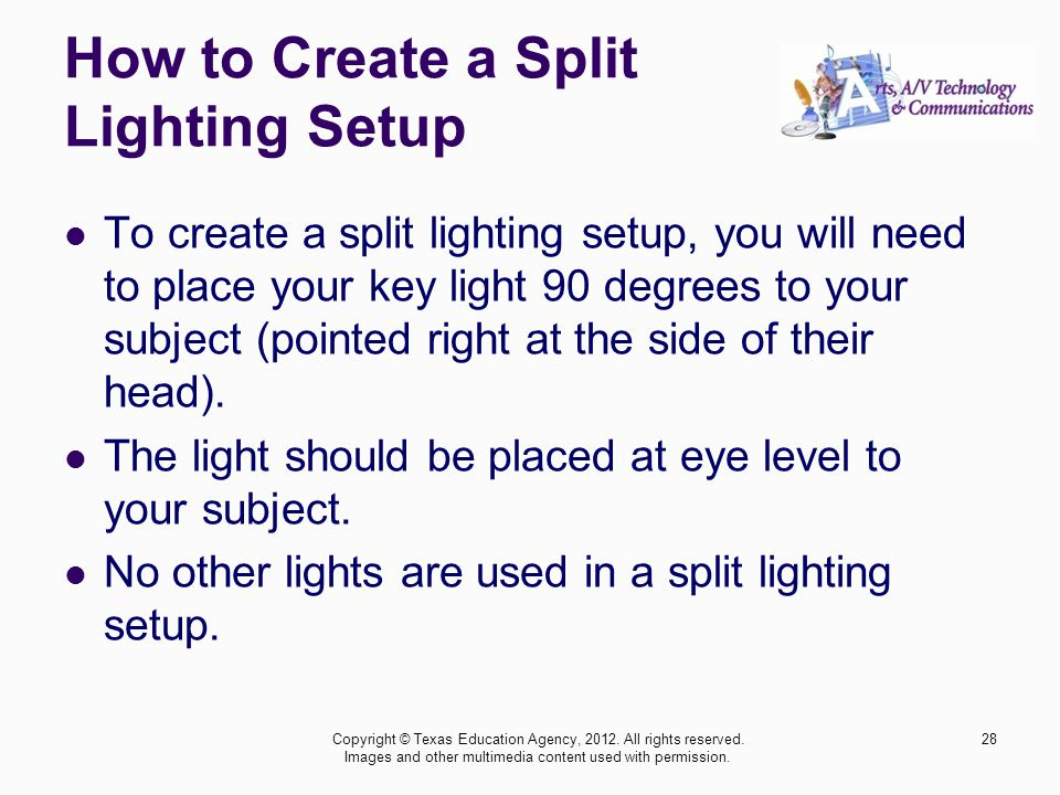 How to Create a Split Lighting Setup