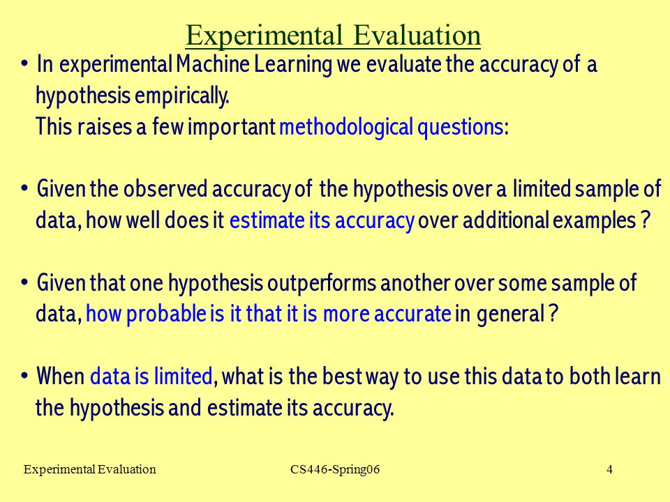 Experimental Evaluation