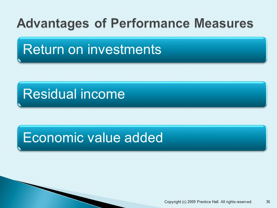 Advantages of Performance Measures