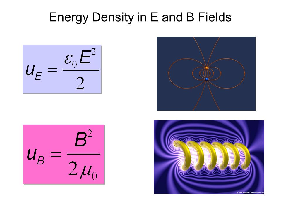 Energy Density in E and B Fields
