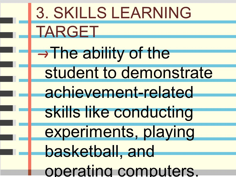 3. SKILLS LEARNING TARGET