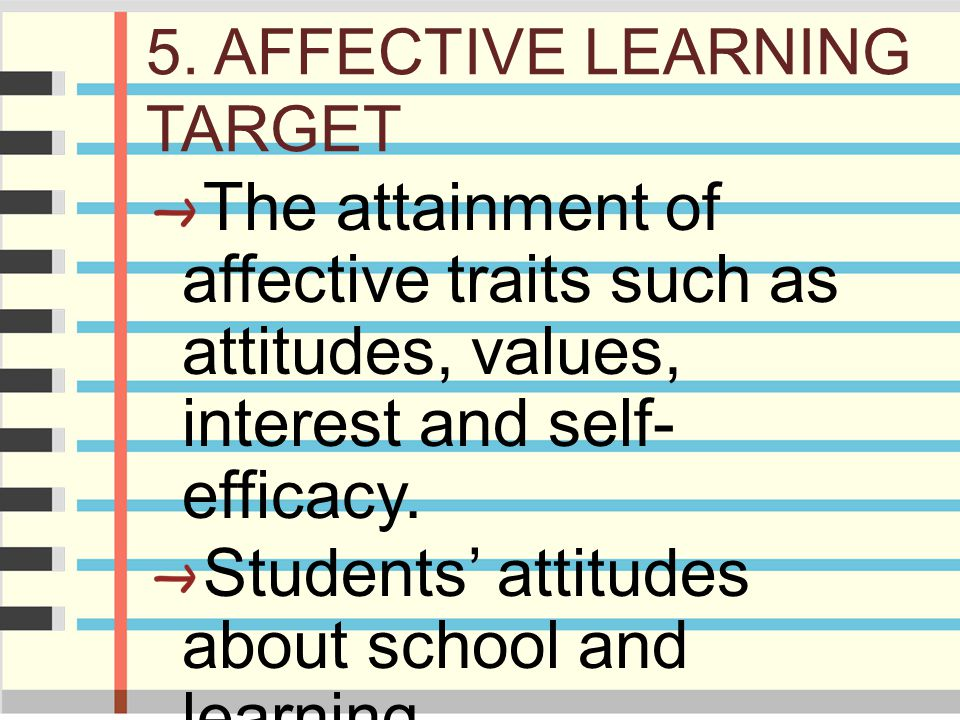 5. AFFECTIVE LEARNING TARGET