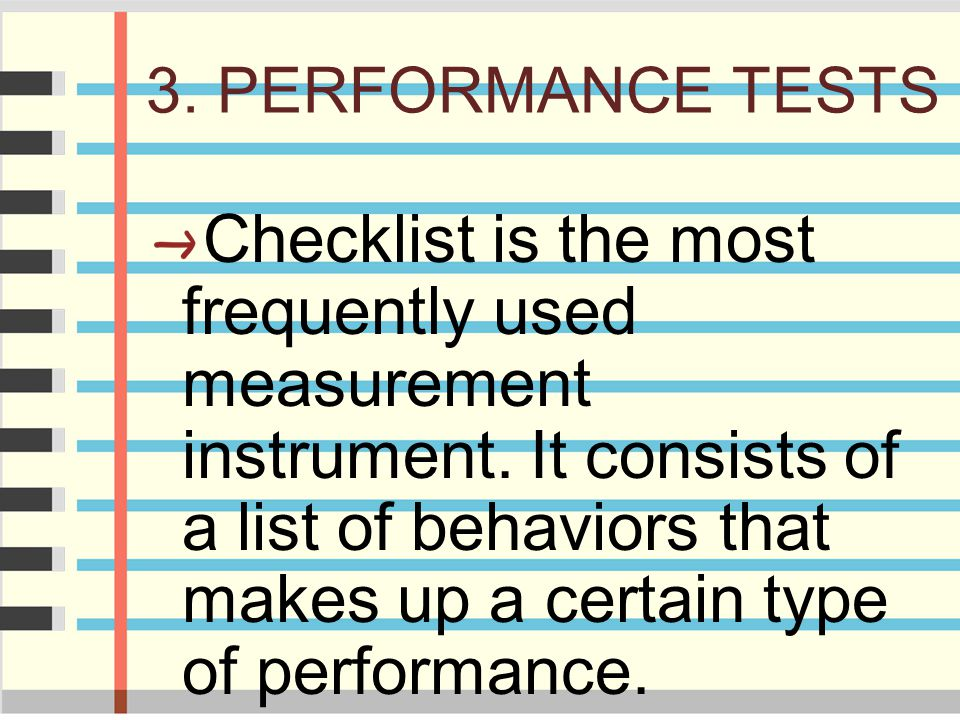 3. PERFORMANCE TESTS