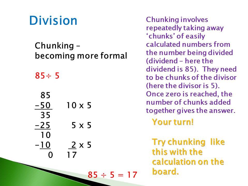 Niedlich Division Chunking Ks2 Arbeitsblatt Fotos - Super Lehrer ...