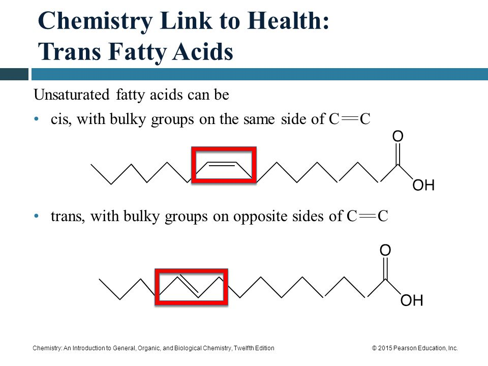 Chemistry Link to Health: Trans Fatty Acids