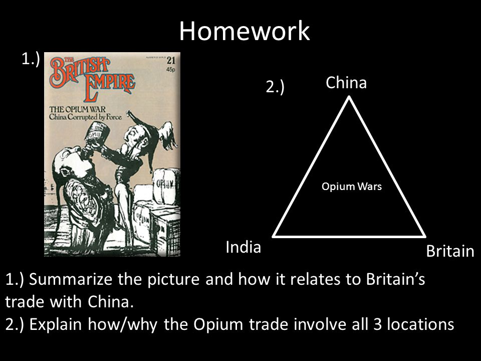 the results of the british opium trade for china Continuity and change in british attitudes towards qing china  of the opium  trade had been underestimated as a cause of the war by.