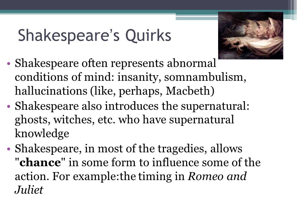 the portrayal of the supernatural in shakespeares hamlet Violence in shakespeare: suicide, murder,  ophelia (hamlet) ophelia, driven insane by hamlet's cruelty and the murder of her beloved father, .