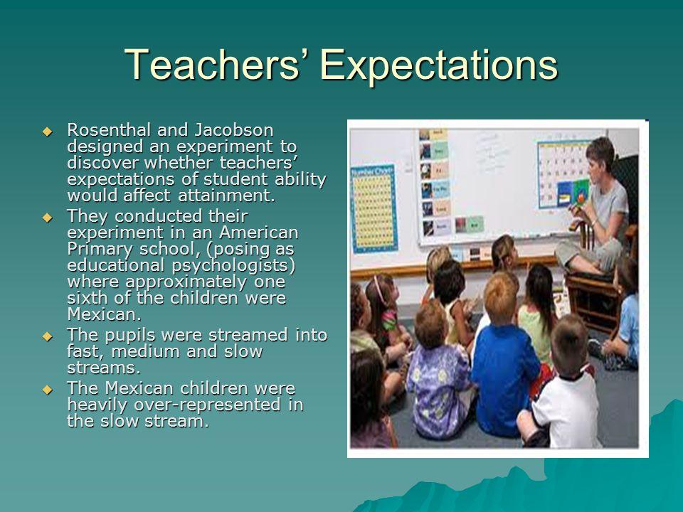 how teachers expectations can influence students The effect of teachers' expectations and perceptions on expectations and perceptions on student of teacher expectations influence student.