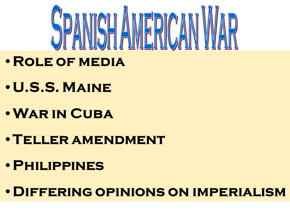 american role in the spanish and american war One american's story the spanish-american war  wary of the us role in the cuban struggle against the spanish, martí warned, i know.