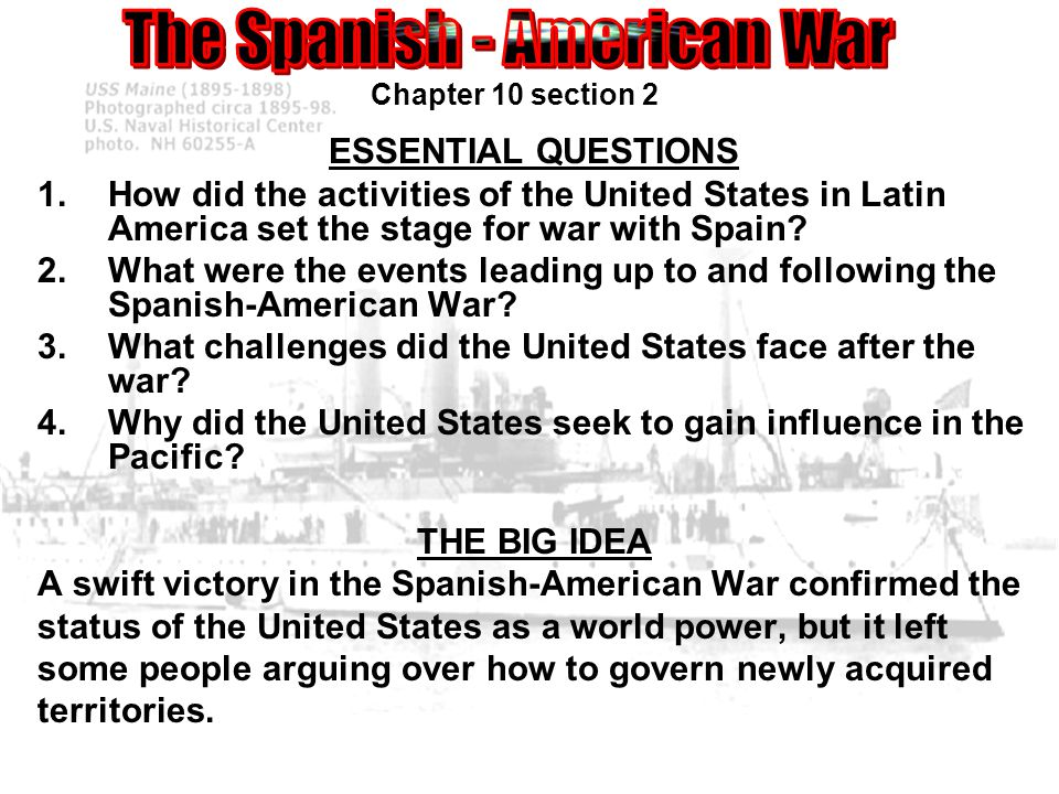 What were the consequences of the U.S. victory in the Spanish American War?