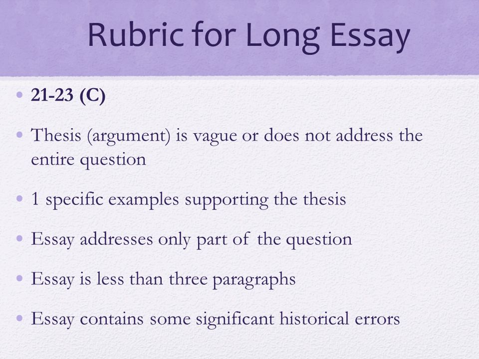 final exam essay rubric Ap literature prose essay rubric clasifiedad com bentonenglish com how to  score a  written response to literature final exam essay assignment ap  essay.